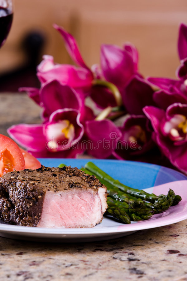 Romantic meal stock photography