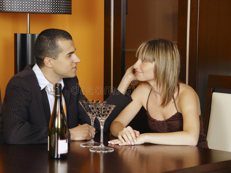 Romantic meeting stock images