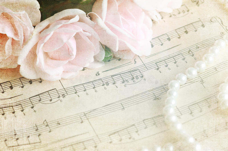 Romantic melody - vintage background royalty free stock images