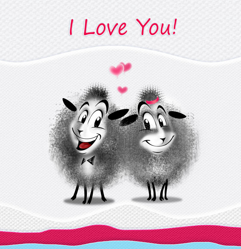 Romantic message e-card. I Love You! message e-card. A romantic beautiful love e-card with heartfelt text message to give your sweetheart a special feeling vector illustration