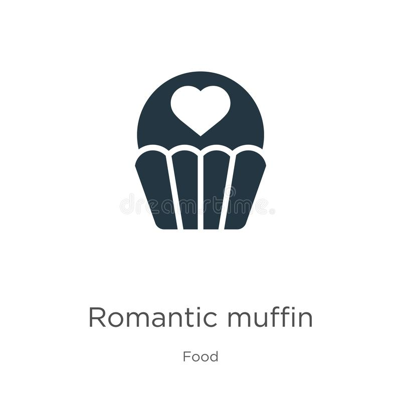 Romantic muffin icon vector. Trendy flat romantic muffin icon from food collection isolated on white background. Vector stock illustration