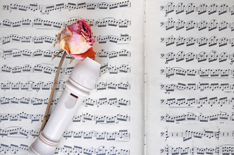 Romantic music background royalty free stock photography