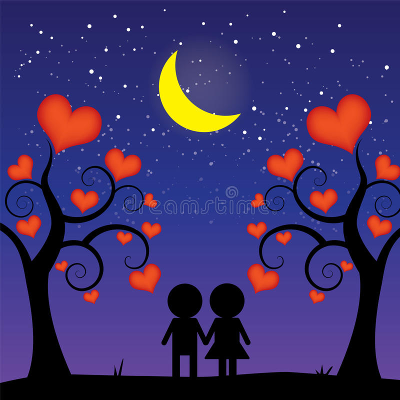 Download Romantic night stock vector. Image of male, advertising - 25933678