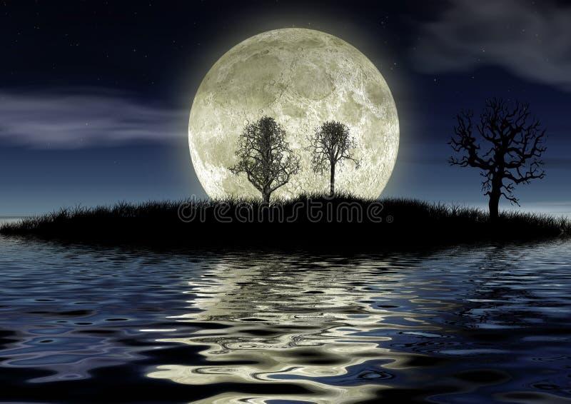 Romantic night stock illustration