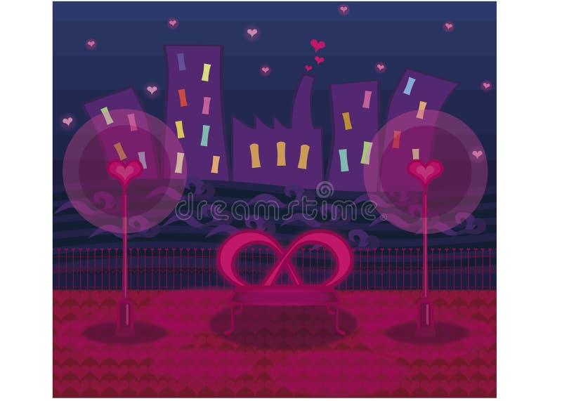 Romantic night royalty free illustration