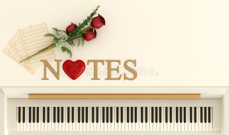 Romantic notes vector illustration