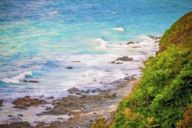 Romantic Ocean Coast Royalty Free Stock Photo