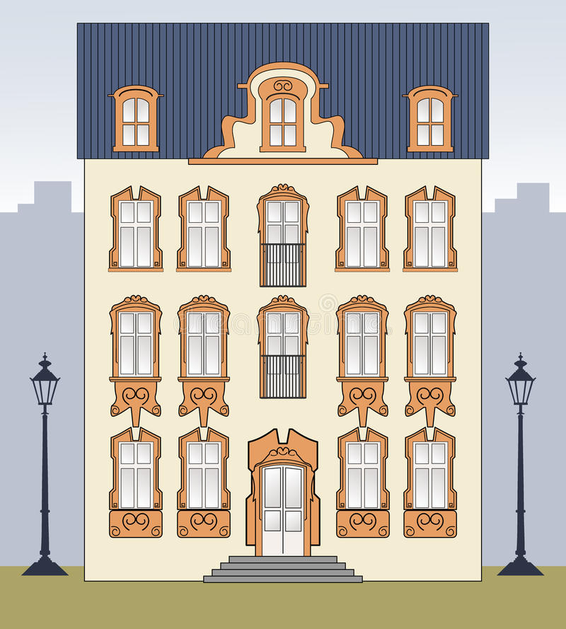 Download Romantic old house stock vector. Illustration of estate - 16158072