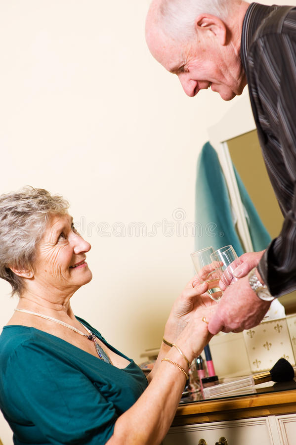 Romantic Older Couple Stock Photo