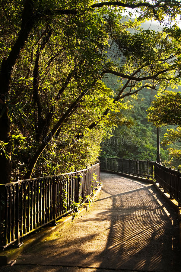 Romantic peak way in Hong Kong,. Victoria royalty free stock photography