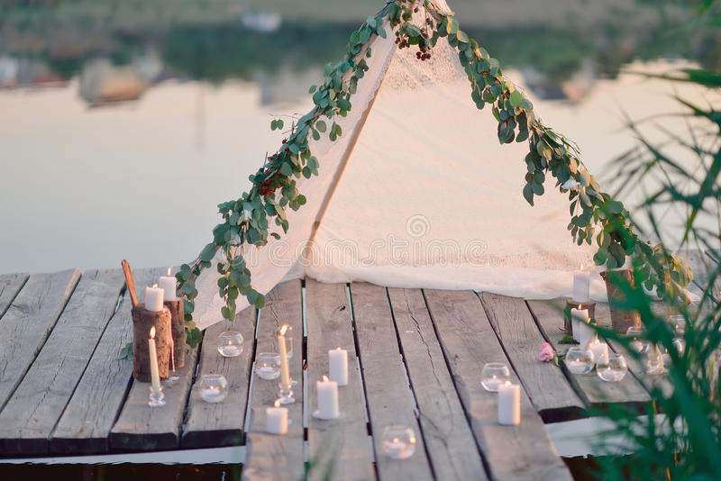 Romantic picnic royalty free stock image
