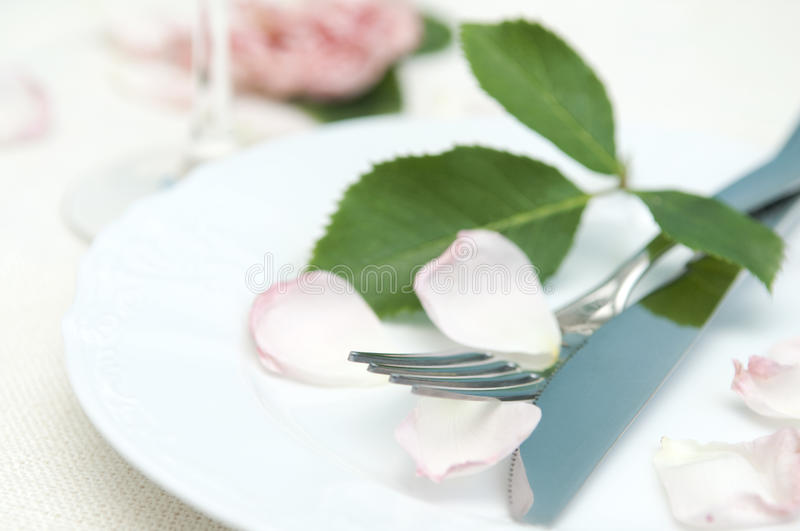 Download Romantic place setting stock photo. Image of knife, event - 26472522