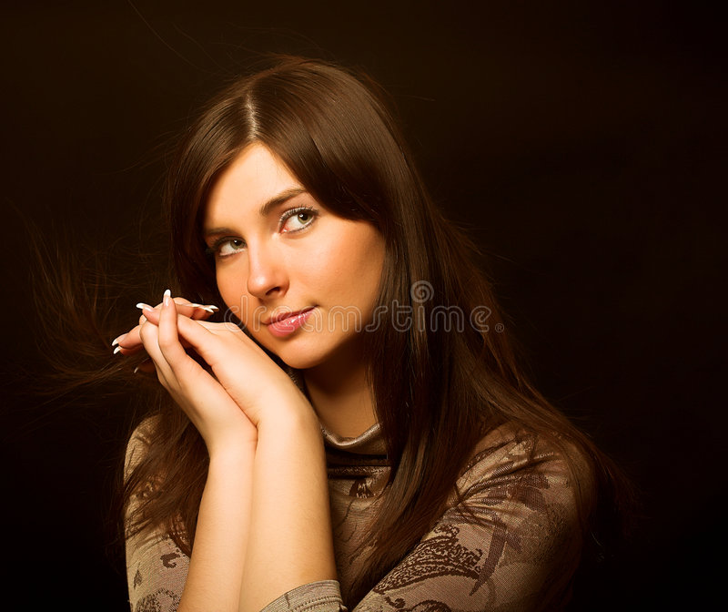 Download Romantic portrait stock image. Image of french, lips, blush - 7691469