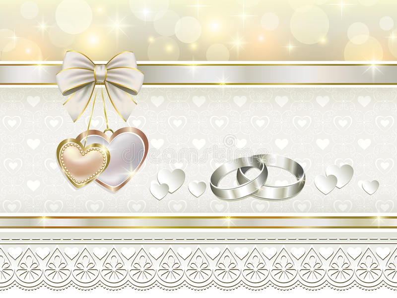 Romantic postcard for wedding day royalty free illustration