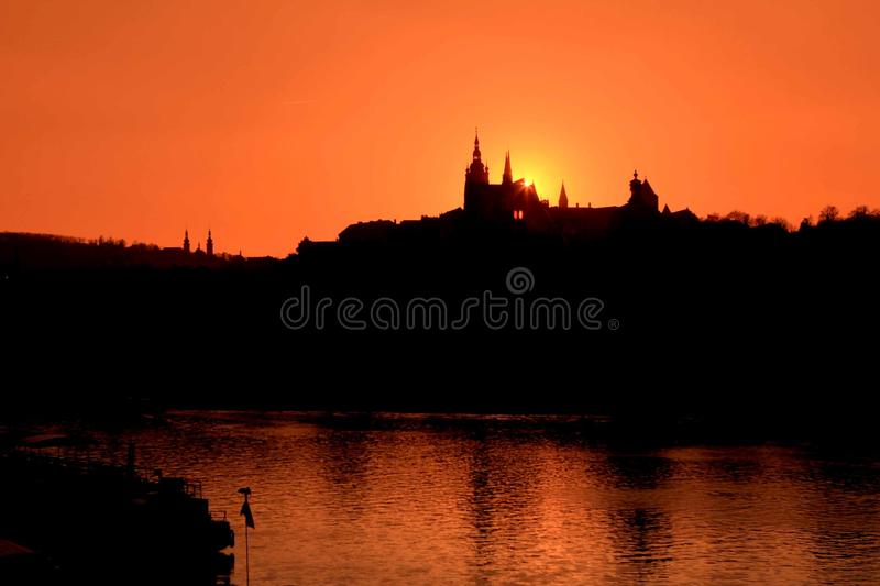Romantic in prague royalty free stock photography