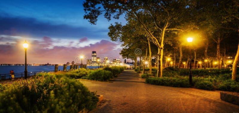 Romantic promenade walkway stock photos