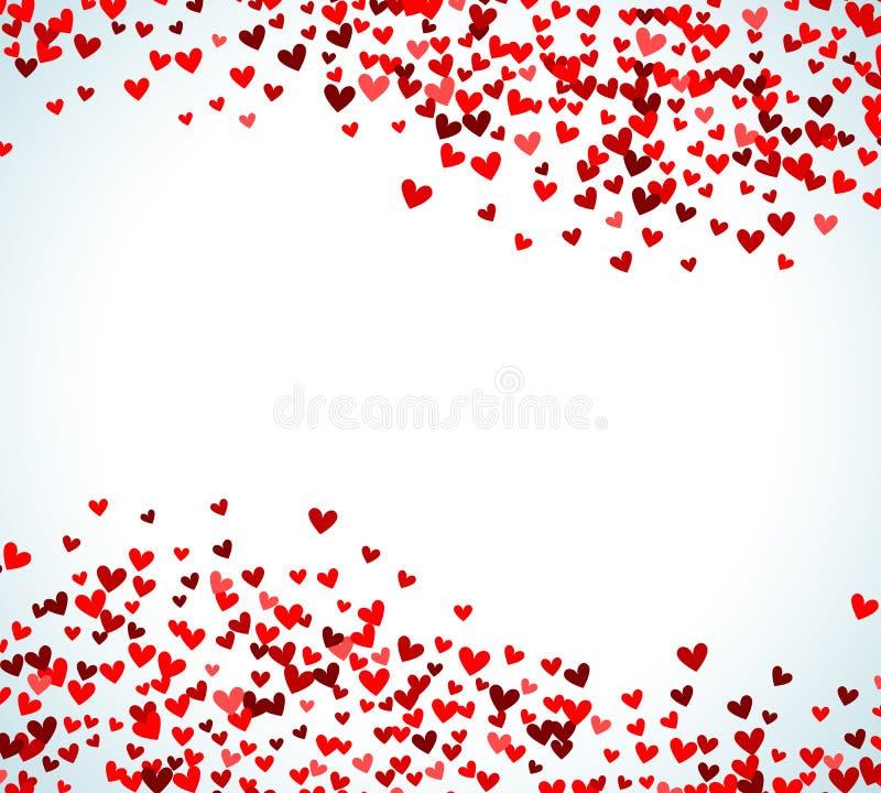romantic red heart background vector illustration stock
