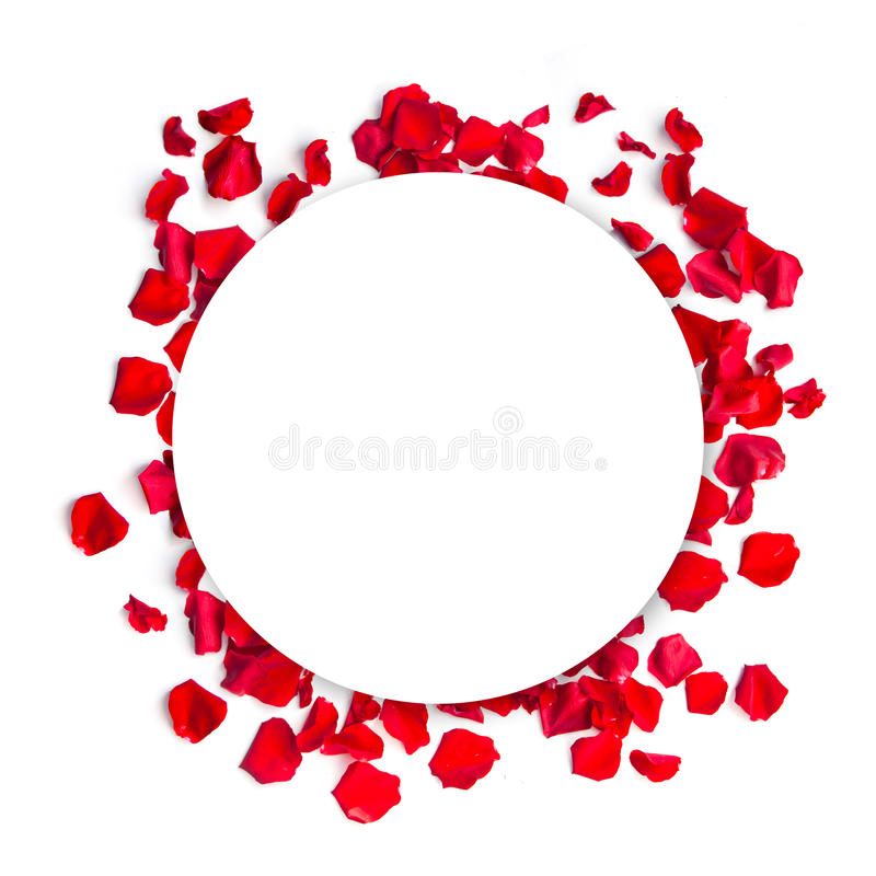 Free Romantic Red Rose Petals Circle Background Stock Images - 70627314