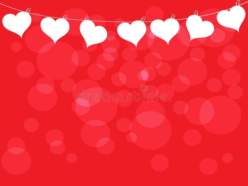 Download Romantic Red Valentine`s Day Card From Hearts And A Side Stock Vector - Image: 83711373