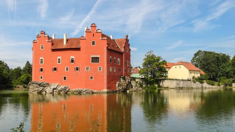 Cervena lhota castle in Bohemia, Czech Republic stock photography