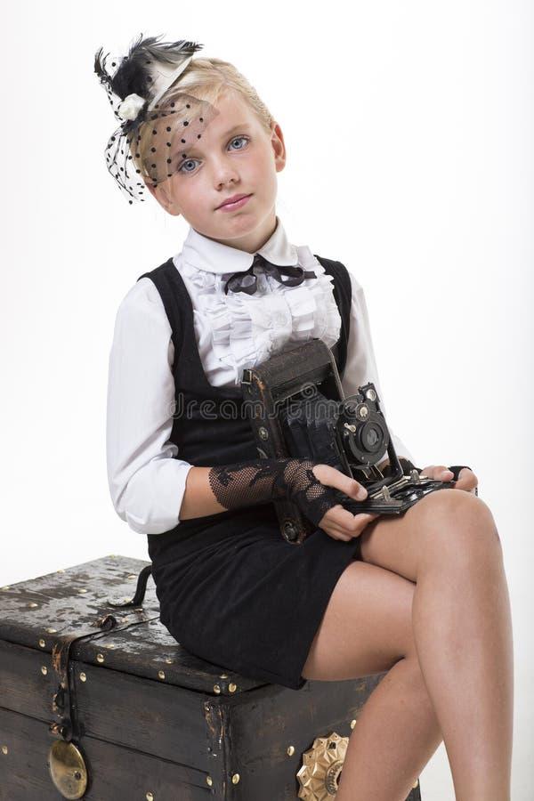 Download Romantic Retro Style Photographer Stock Photo - Image: 33438154