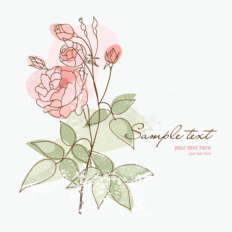 Download Romantic Rose For Your Greeting Card Stock Vector - Illustration: 15438013