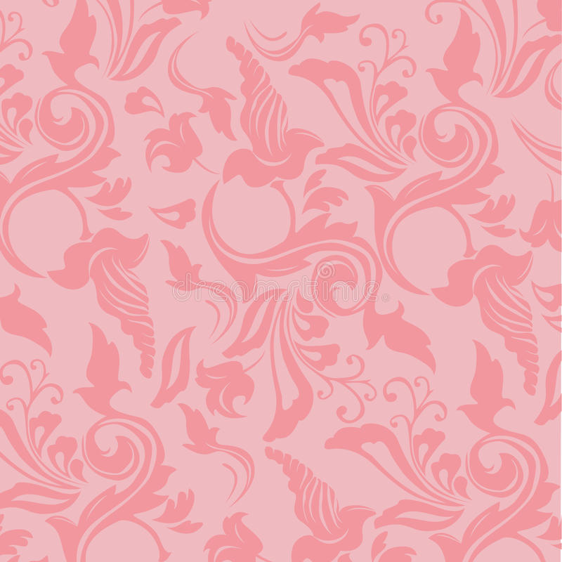 Romantic Royal Pink Flowers Wallpaper