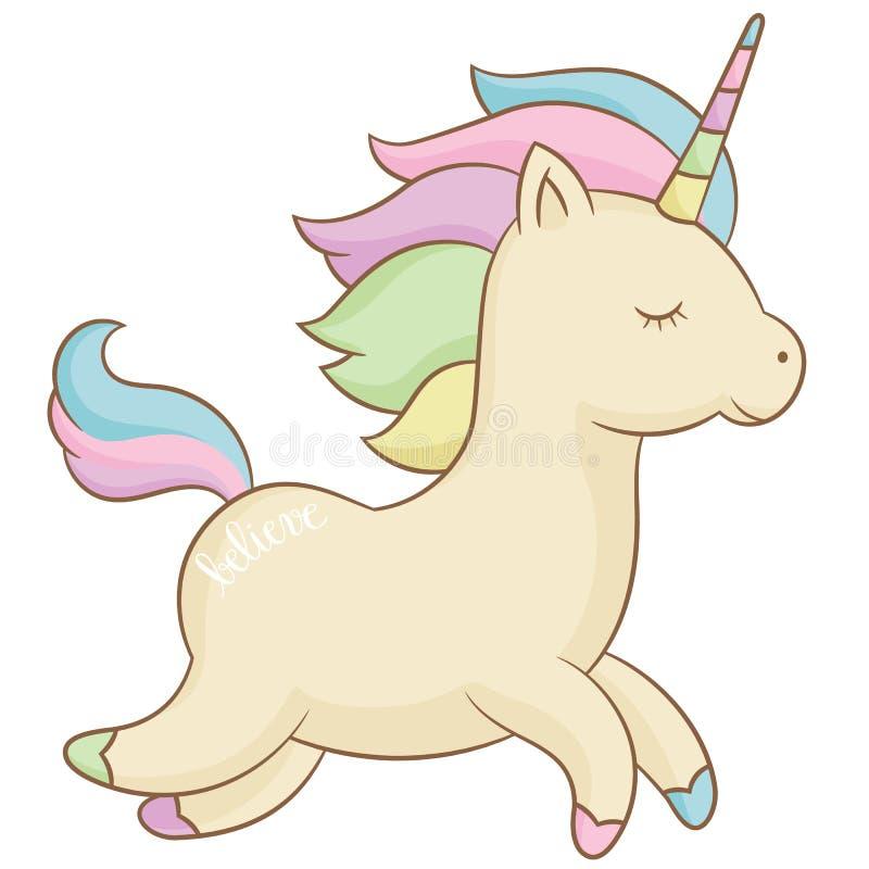 Free Romantic Running Unicorn Stock Photography - 92312432