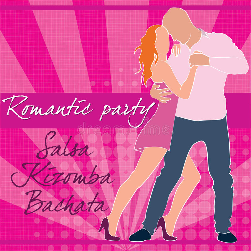 Romantic salsa party vector illustration