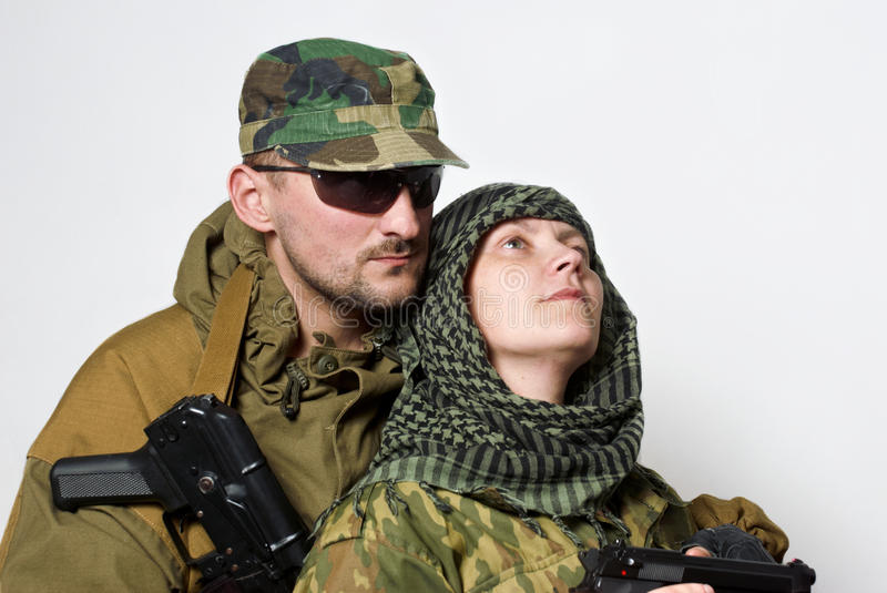 Download Romantic scene stock image. Image of defense, love, soldier - 14665093