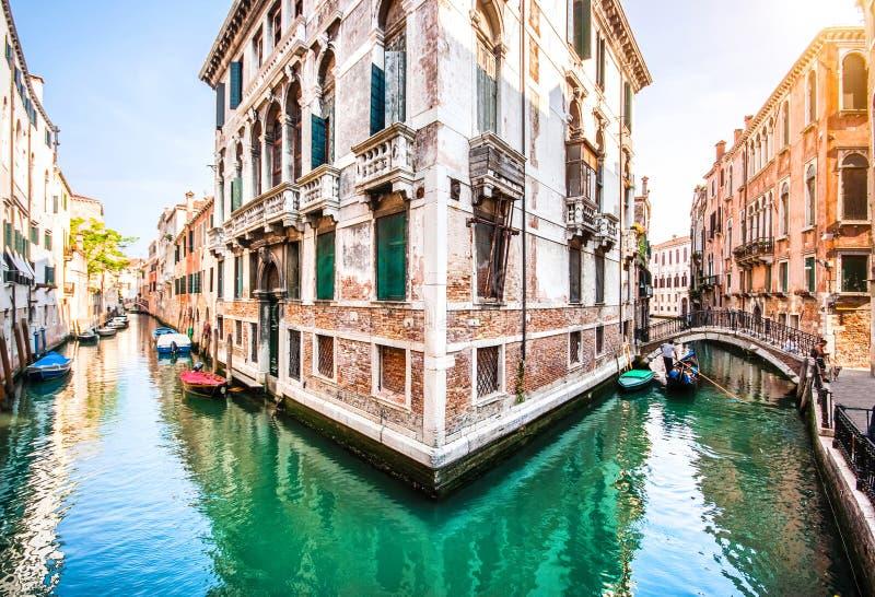 Romantic scene in Venice, Italy royalty free stock photo