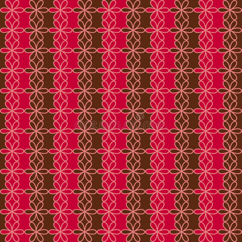 Romantic seamless floral pattern. Endless texture can be used for printing onto fabric and paper, scrap booking. Retro red and bro royalty free illustration