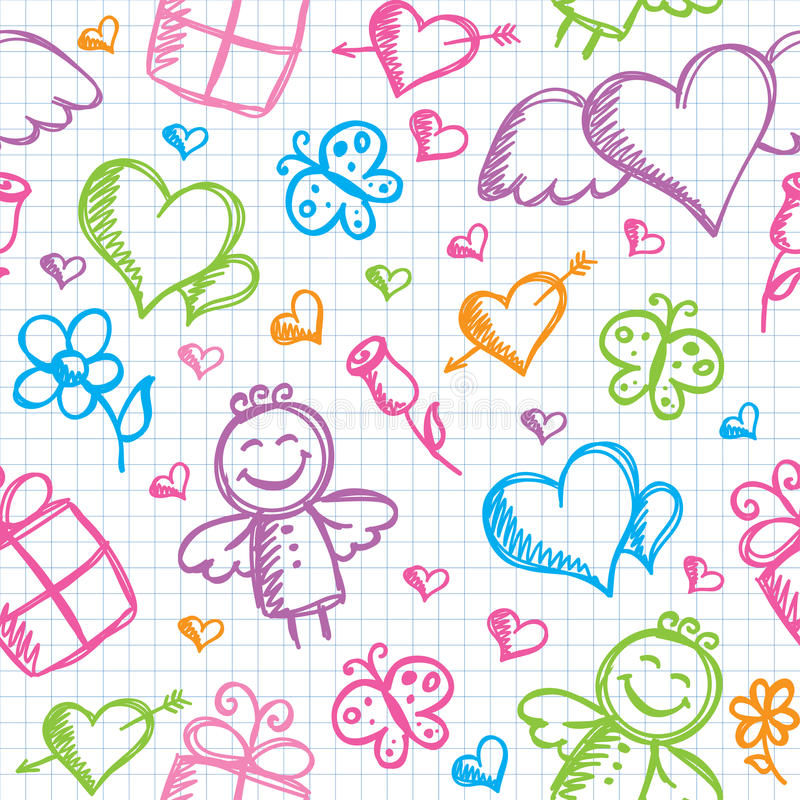 Download Romantic seamless pattern stock vector. Illustration of green - 22421538
