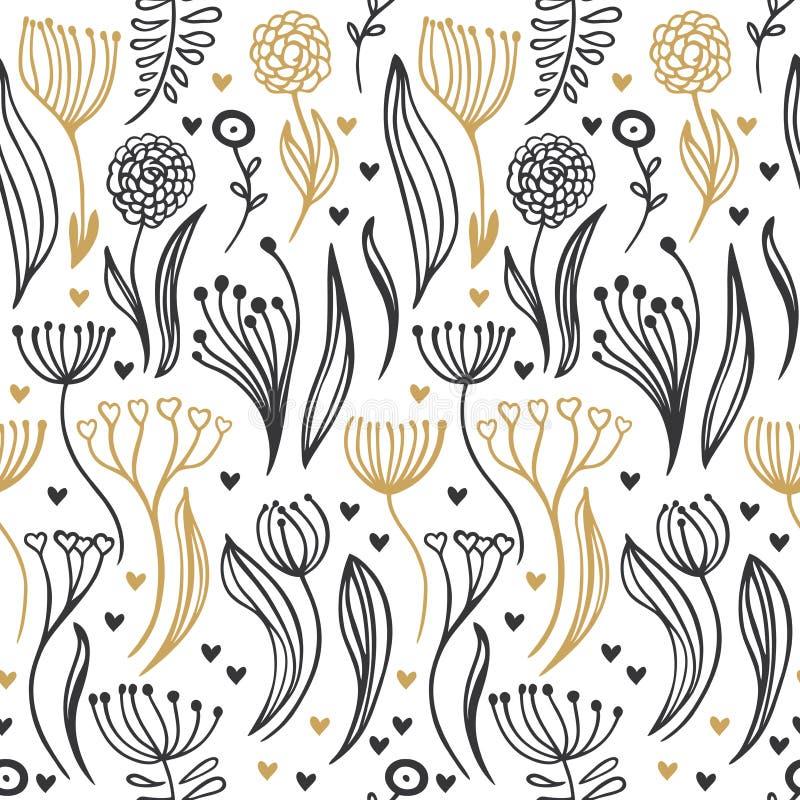 Romantic seamless pattern royalty free stock image