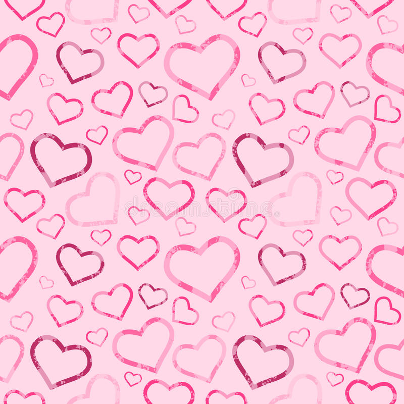Romantic Seamless Pattern royalty free illustration