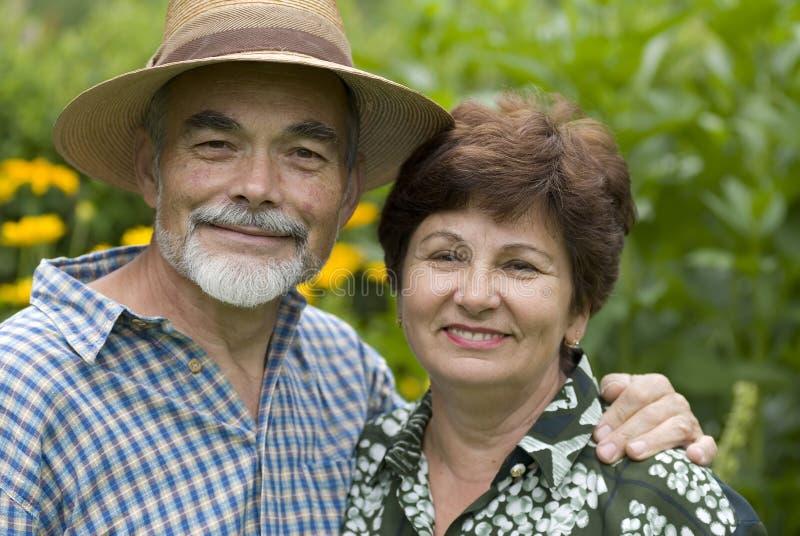 Romantic senior couple royalty free stock photo