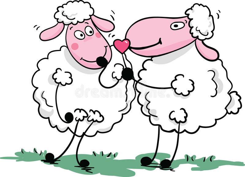 Download Romantic Sheep Stock Photo - Image: 11166130