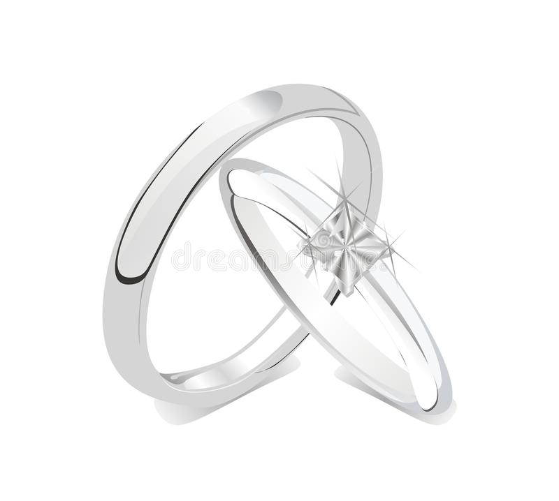 Download Romantic Shiny Wedding Rings Couple Stock Vector - Image: 32651972