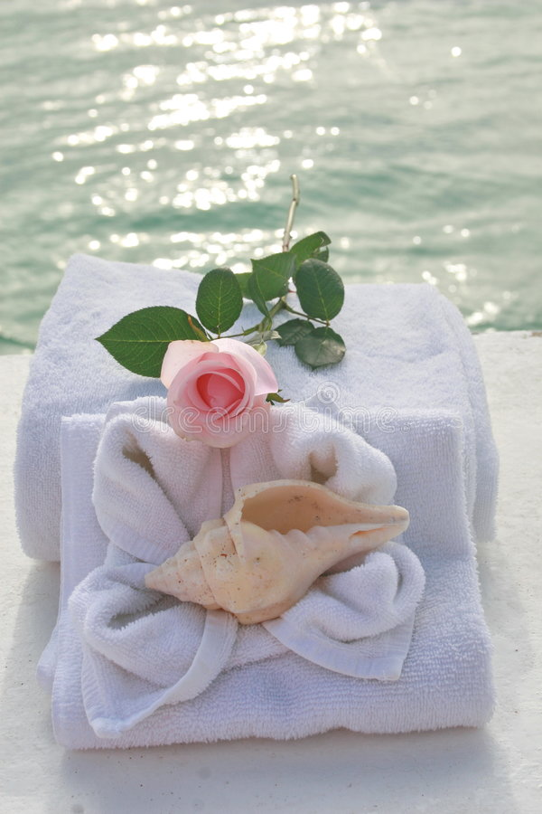 Romantic spa day stock photography