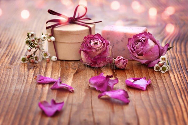Romantic spa decoratie stock fotografie
