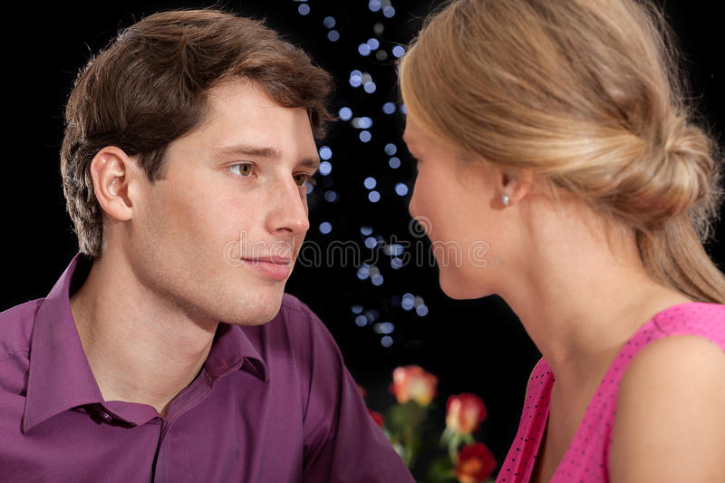 Download Romantic stares stock image. Image of handsome, contact - 36080089