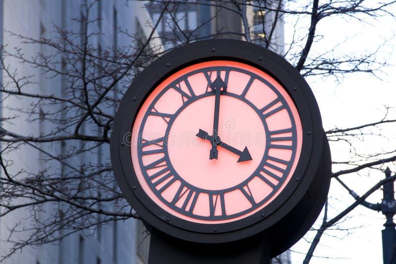 Romantic street clock royalty free stock images