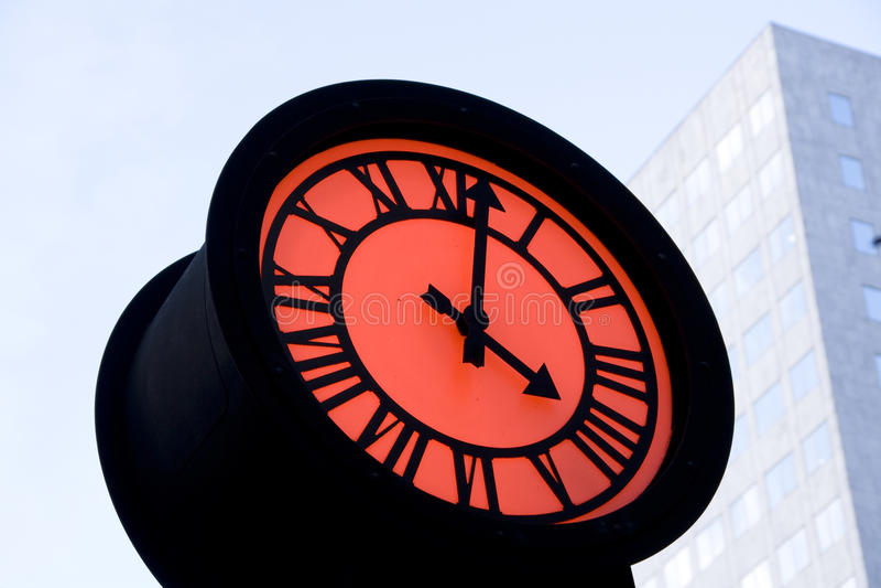 Romantic street clock stock images