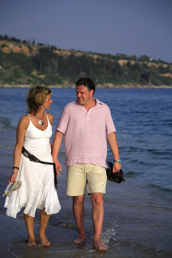Romantic stroll royalty free stock image