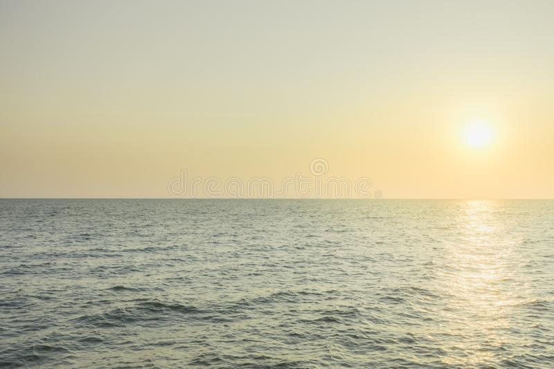 romantic summertime seascape with crystal clear sea stock image