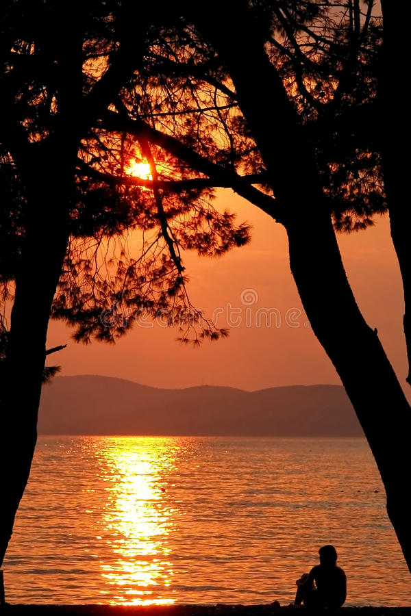 Download Romantic sunset stock photo. Image of coast, colorful - 13559890