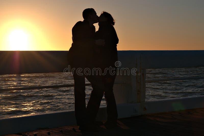Romantic sunset royalty free stock image