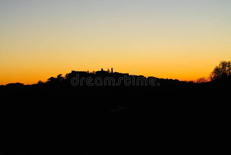 Romantic Sunset Backlight stock photos