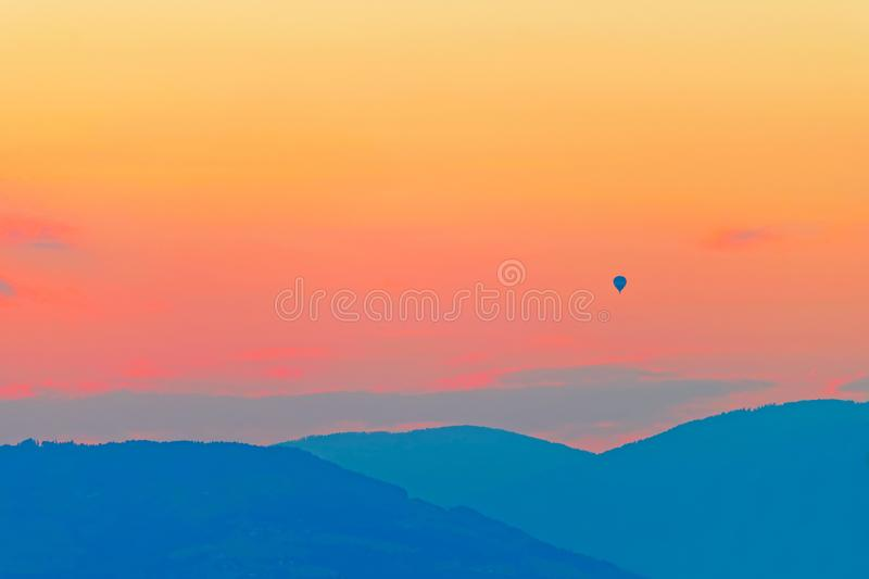 Romantic sunset in evening. Romantic sunset in the evening stock photography