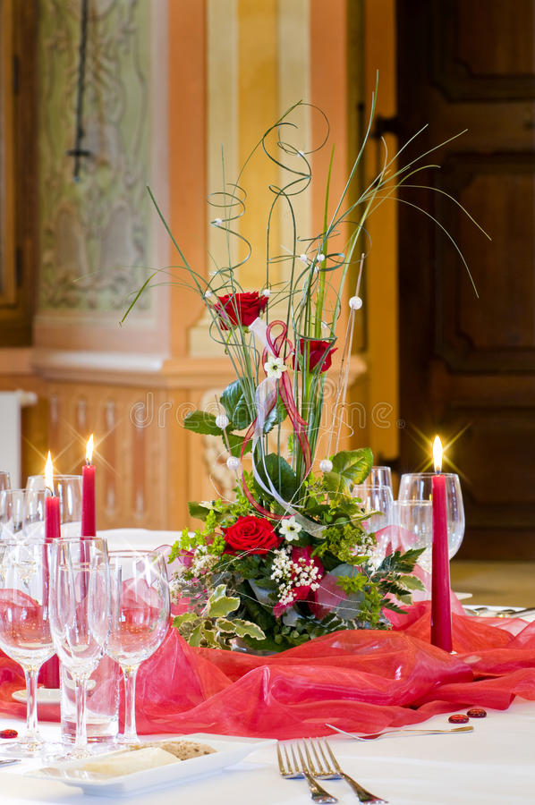 Download Romantic table setting stock photo. Image of centrepiece - 9751474